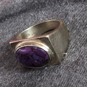 Native American Sterling & Purple Turquoise Ring